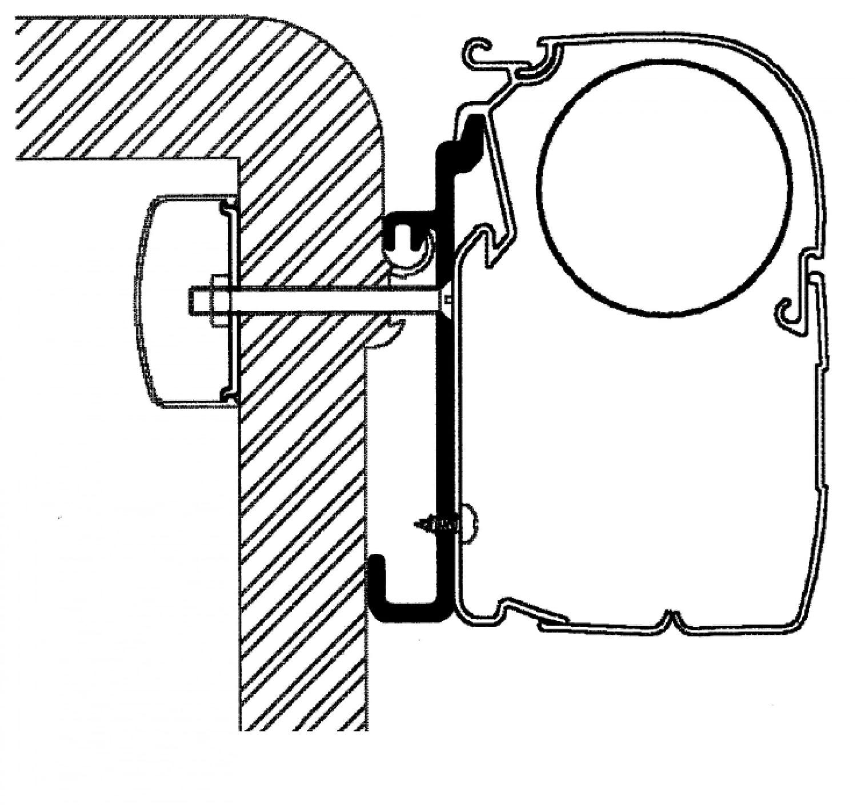 Thule Adapter Rapido Serie 7, 8, 9-4 m m m b3076c