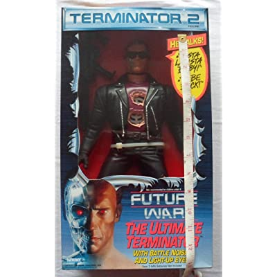 "Terminator 2 The Ultimate Terminator with Battle Noises 14"" Action Figure: Toys & Games"