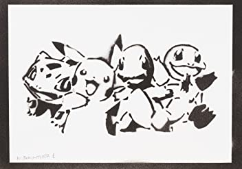 Pokemon Poster Handmade Graffiti Street Art - Artwork