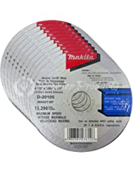 """Makita 10 Pack - 4 1 2 Cutting Wheels For Grinders - Aggressive Cutting For Metal & Stainless Steel/INOX - 4-1/2"""" x .045 x 7/8-Inch 