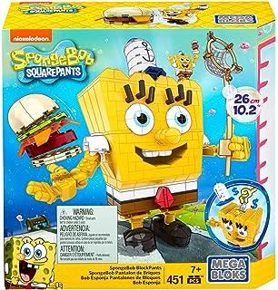 Mega Bloks Toy-SpongeBob Squarepants Mr sa Racer Figure Building Kit