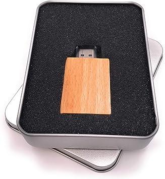 Onwomania Libro de Madera Biblia Memoria USB Stick en Caja de Regalo de ALU 16 GB USB 2.0: Amazon.es: Electrónica