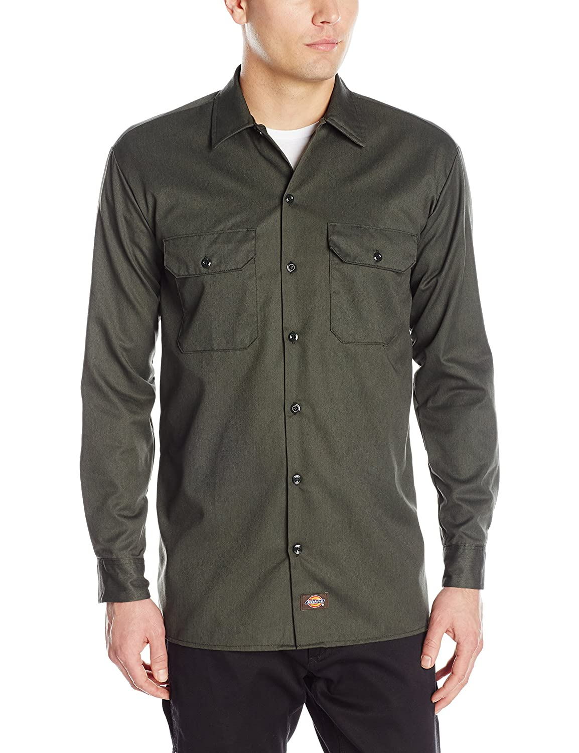 Vert Olive 3XL Dickies Chemise Manches longues Homme