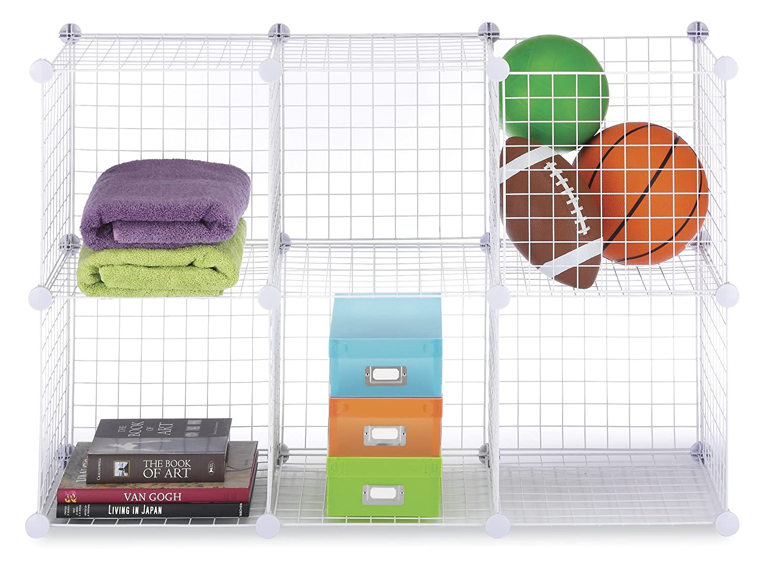 Image Result For Grid Wire Modular Shelving Storage Cubes