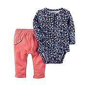 Carter's Baby Girls' 2 Piece Floral Bodysuit & Pants Set 3 Months