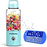 Smoothie Blender, Portable Blender USB rechargeable, PopBabies Personal Blender for single served, Small Blender for Shakes Stronger and Faster with Ice Tray and Recipe (FDA and BPA free)
