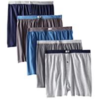 Fruit of the Loom Men's Big Soft Stretch-Knit Boxer (Pack of 5)
