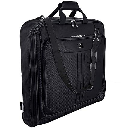 Zegur Funda para ropa para 3 trajes o vestidos ideal como equipaje de mano – Maletín de viaje de ocio o de negocios de 1 m – Bolsa con compartimentos ...