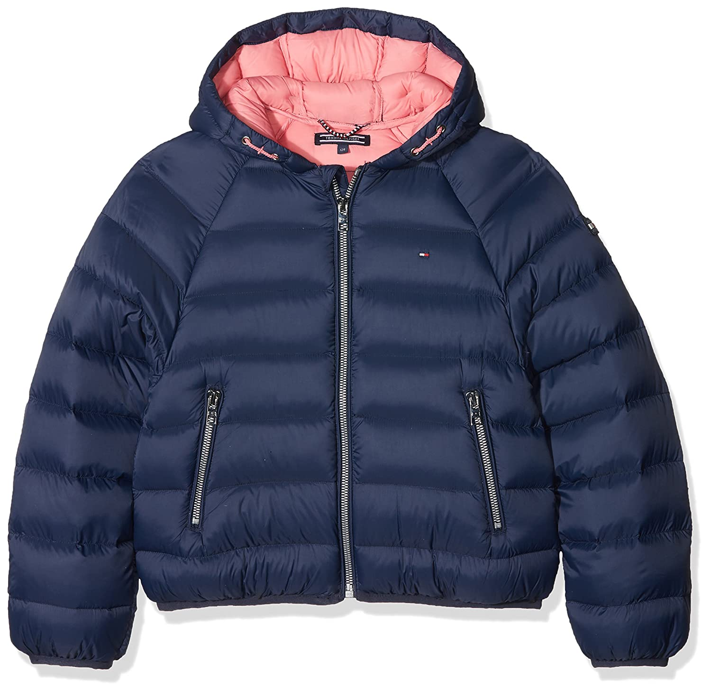 Tommy Hilfiger Mädchen Jacke Thkg LT Crop Jacket, Blau (Black Iris 002), 152 (Herstellergröße: 12)