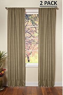 Cotton Craft   100% Jute Burlap Rod Pocket Window Panels   Color   Natural