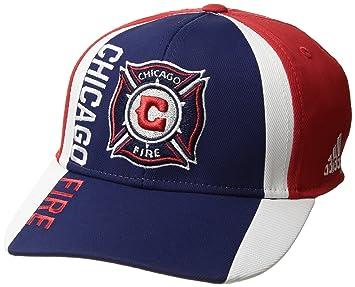 brand new a5282 1c6bd MLS Chicago Fire Adult Men Cut  N Sew Curved Visor Flex, Small Medium