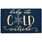 DII Indoor/Outdoor Natural Coir Holiday Season Doormat, 18x30, Baby Its Cold