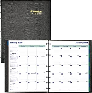Blueline 2020 Miraclebind/CoilPro Monthly Planner, 17 Months (August 2019 - December 2020), 9.25 x 7.25 Inches, Black (CF1200C.81-20)