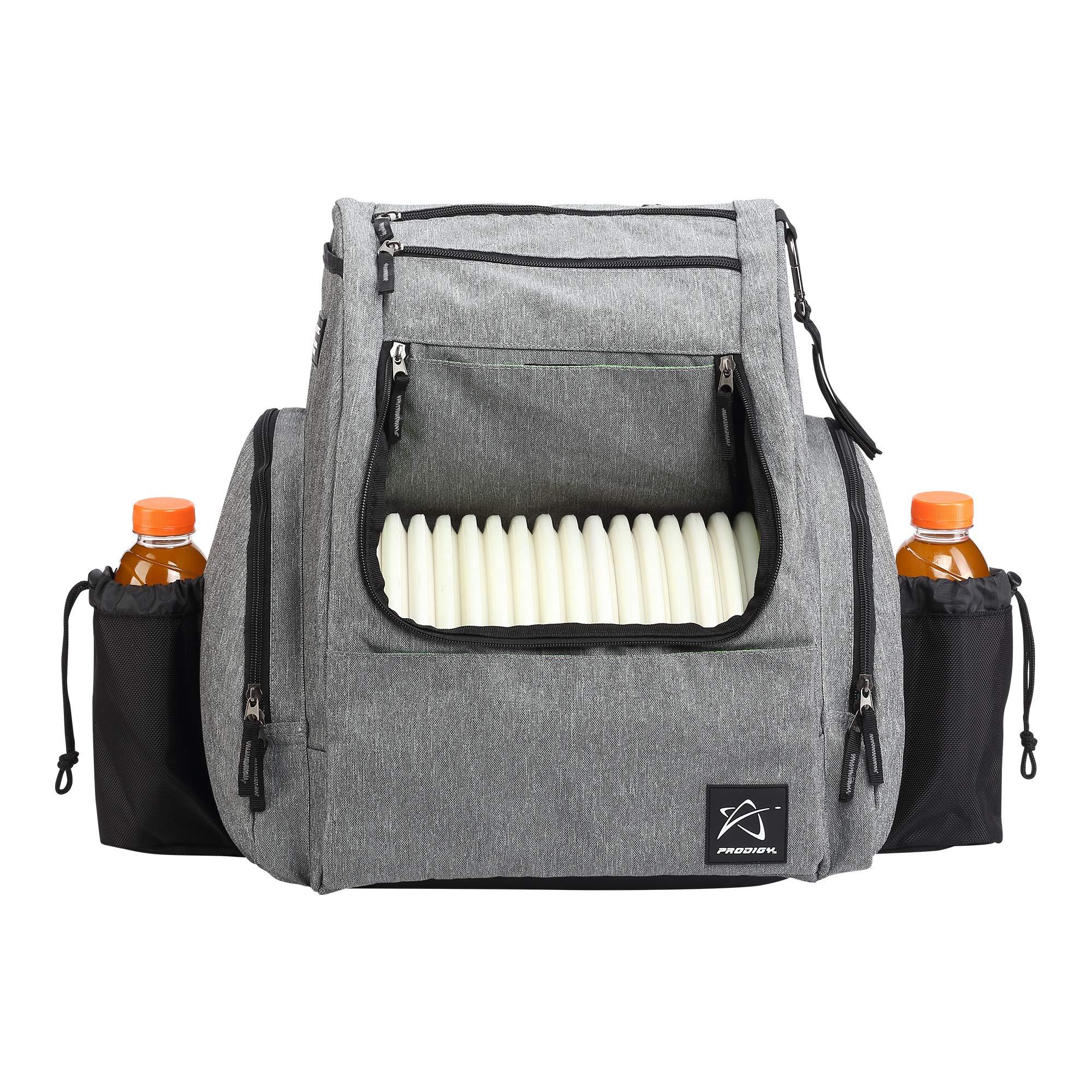 Prodigy Disc BP-2 Backpack - 2019 Model - Fits 25 Discs (Heather Gray/Black, Rainfly)