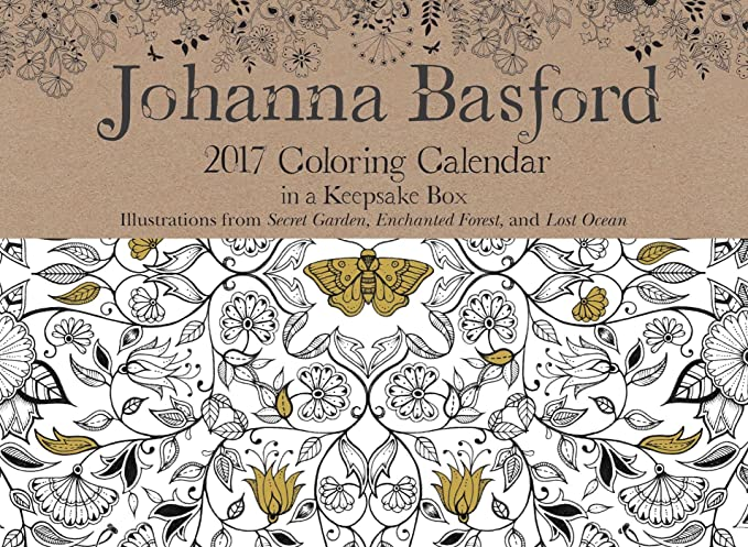 Johanna Basford 2017 Coloring Day To Calendar Amazonin Office Products