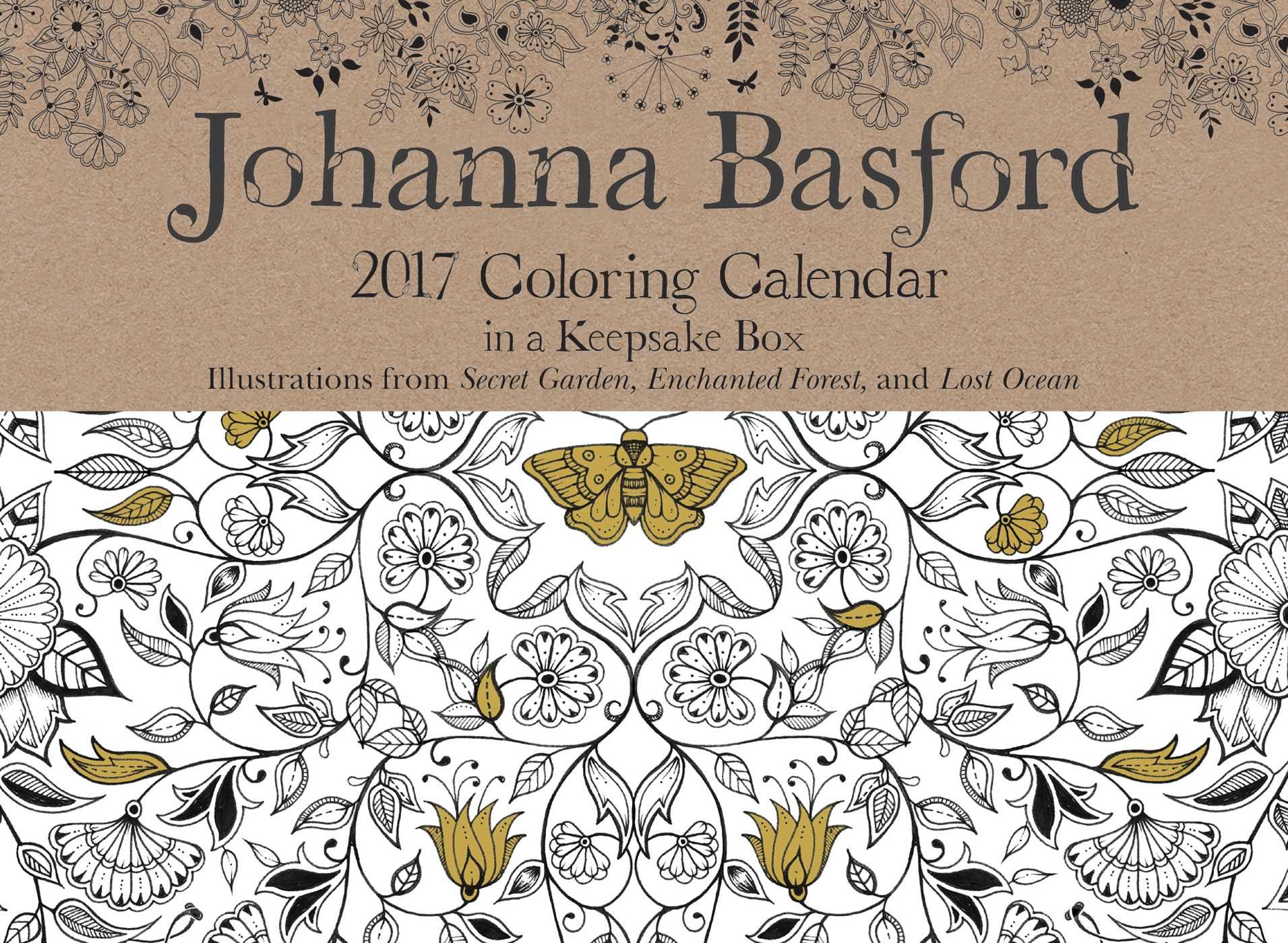 Johanna Basford 2017 Coloring Day To Calendar 0050837355675 Amazon Books