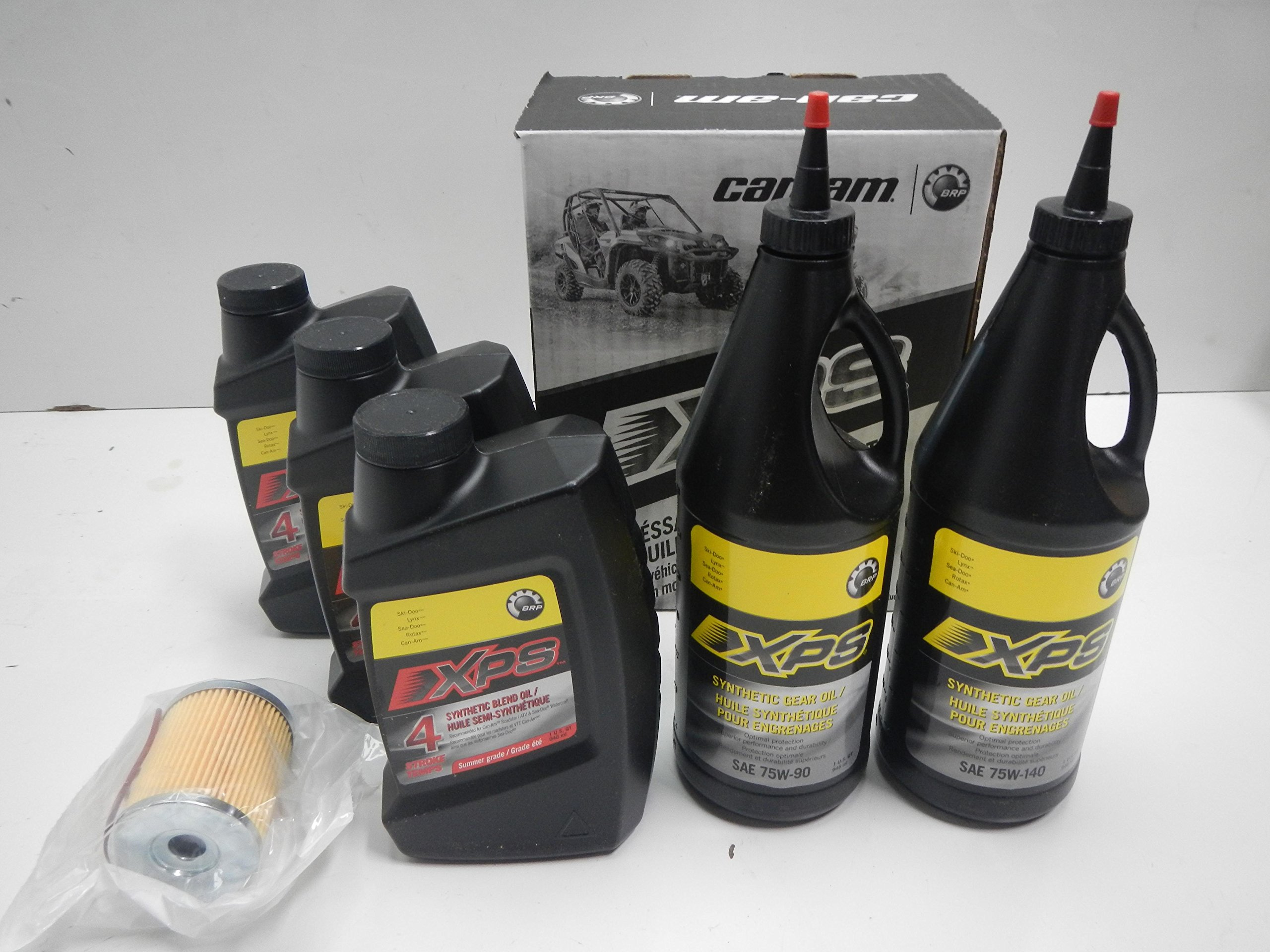 Can Am Semi Synthetic Oil Change Kit w/ Gear Oil AC-CANAM-SSOK by BRP