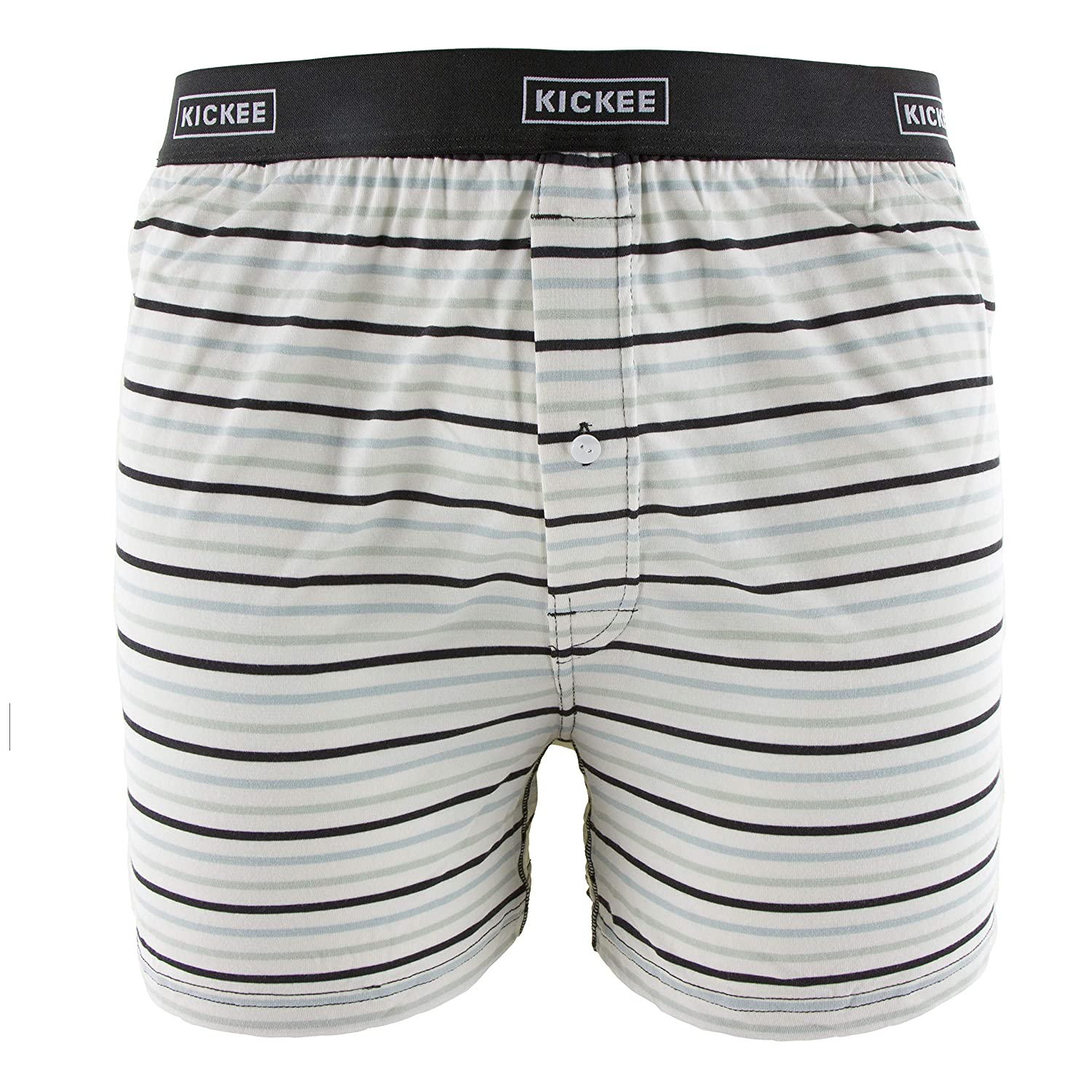 S KICKEE Mens Print Boxer Short in Tuscan Afternoon Stripe