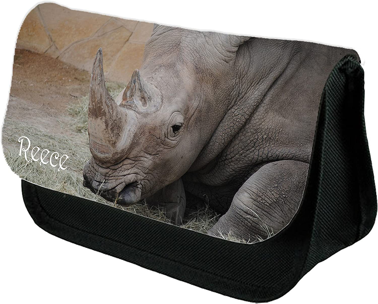 Inspired Creative Design Personalised Rhino, Stationary case, Cosmetic bag, Pencil Case. Personalised