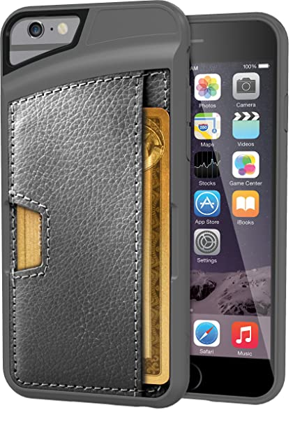 outlet store 4b67b 30b99 Silk iPhone 6/6s Wallet Case - Q Card CASE [Slim Protective CM4 Credit Card  ID Phone Cover] - Wallet Slayer Vol.2 - Gunmetal Gray
