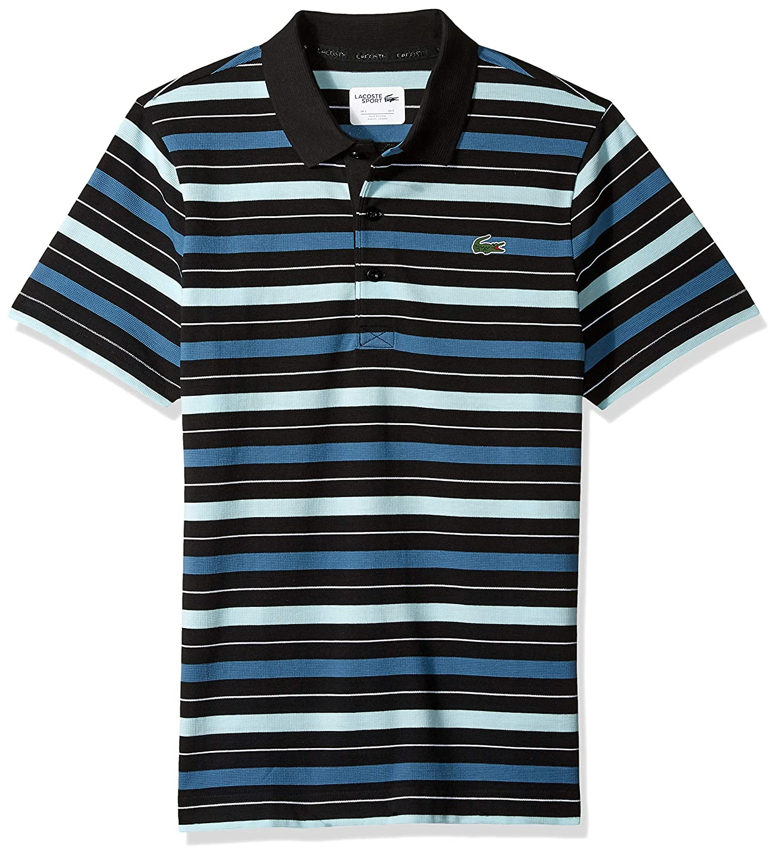 d9ac34c0 Lacoste Men's Sport Short Sleeve Super Light Striped Polo at Amazon Men's  Clothing store: