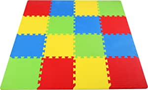 BalanceFrom Multi-Color Kid's Puzzle Exercise Play Mat High Quality EVA Foam Interlocking Tiles