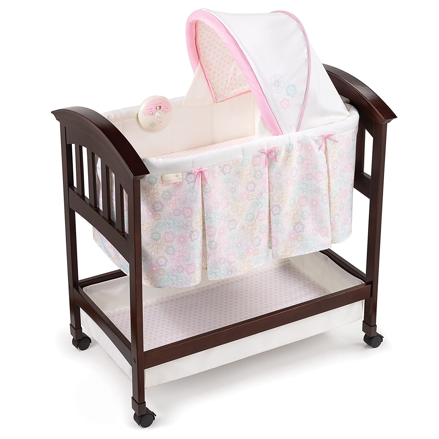 Summer Infant Classic Comfort Wood On Point Bassinet 26253