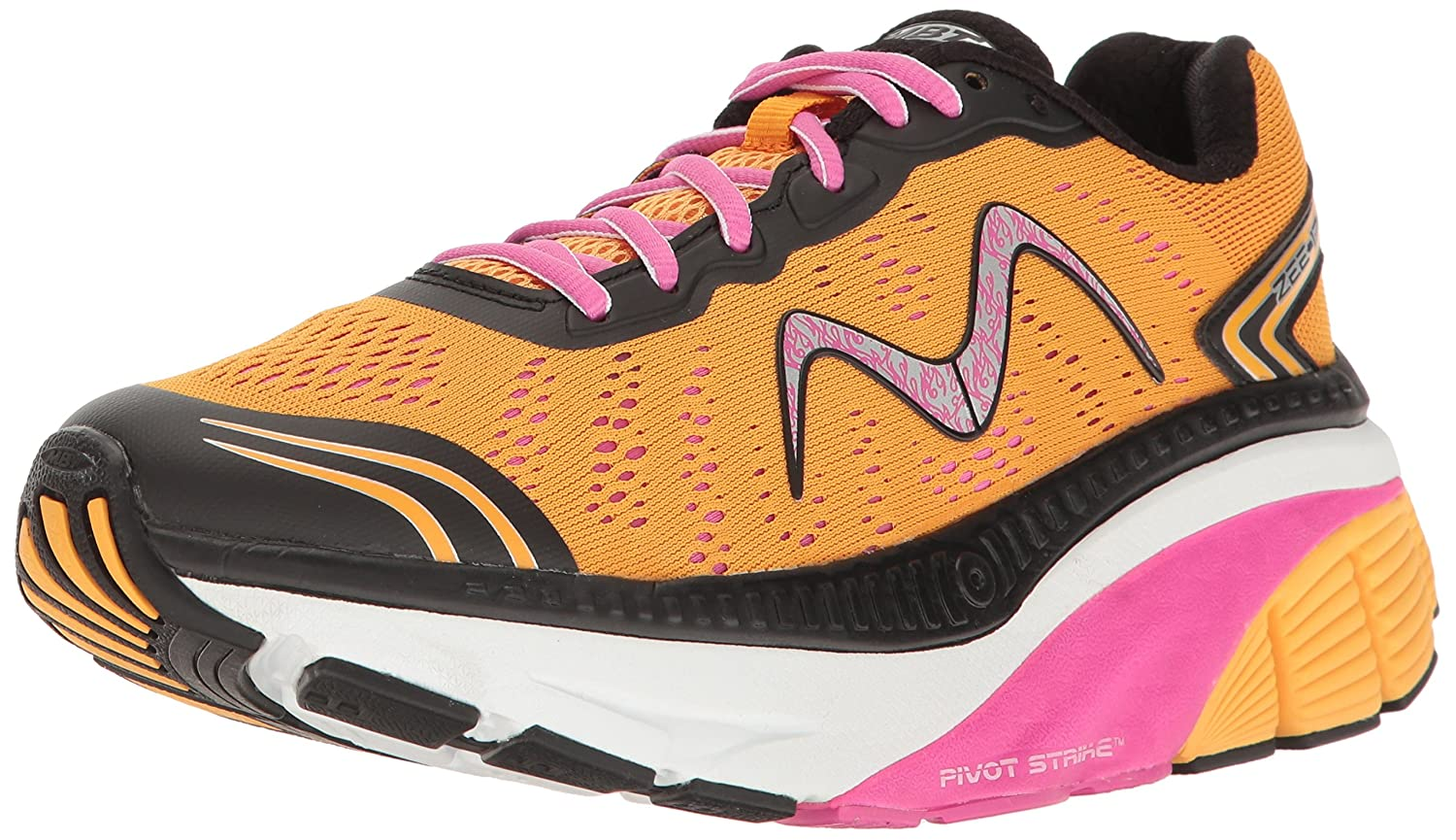 MBT Women's Zee 17 W Sneaker B01N1477O2 12 B(M) US|Orange/Pink/Black/White