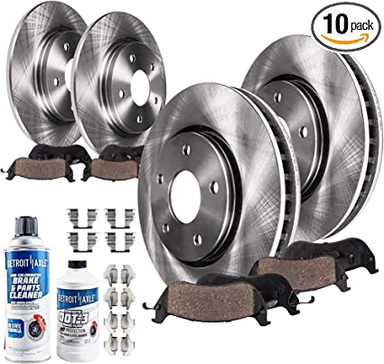 Rear OE Brake Calipers Rotors /& Ceramic Pads For Fusion Lincoln MKZ 2006-2012
