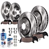 Detroit Axle - All (4) Front and Rear Disc Brake Kit Rotors w/Ceramic Pads w/Hardware & Brake Kit Cleaner for 2013-2018 Toyota Avalon - [2013-2016 Lexus ES350] - 2012-2017 Toyota Camry