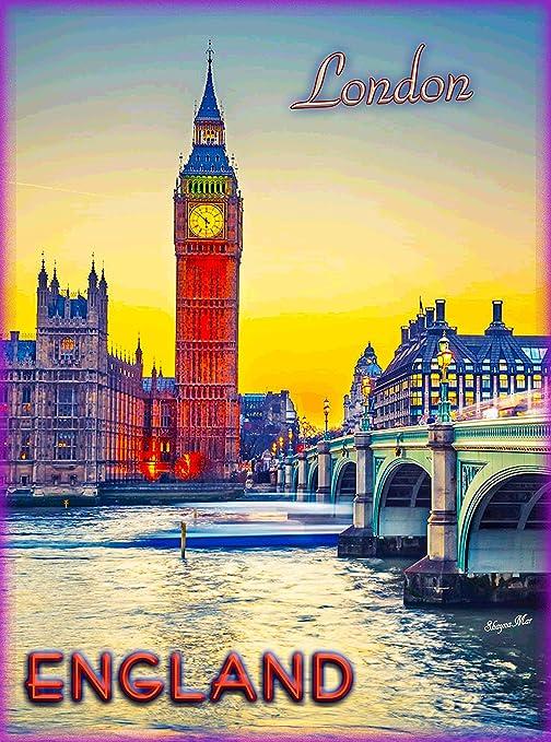 Amazon.com: Big Ben de Londres al atardecer reloj torre de ...