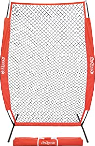 GoSports 7' x 4' I-Screen - Baseball & Softball Pitching Screen Net, Must Have for Safe Training - Includes Foldable Bow Frame and Portable Carry Bag (NET-ISCREEN-7x4)