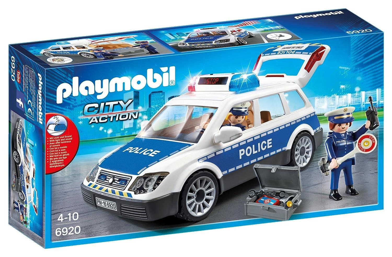 Playmobil 6920 City Action - Coche de Policía con Luces y Sonido