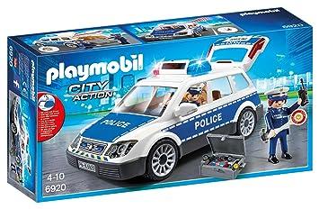 playmobil 6920 voiture policier gyrophare - Policier Playmobil