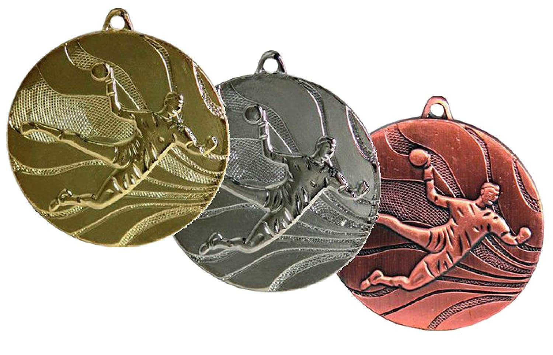 Medaille D=50mm Handball gold, silber und bronzefarben SRK