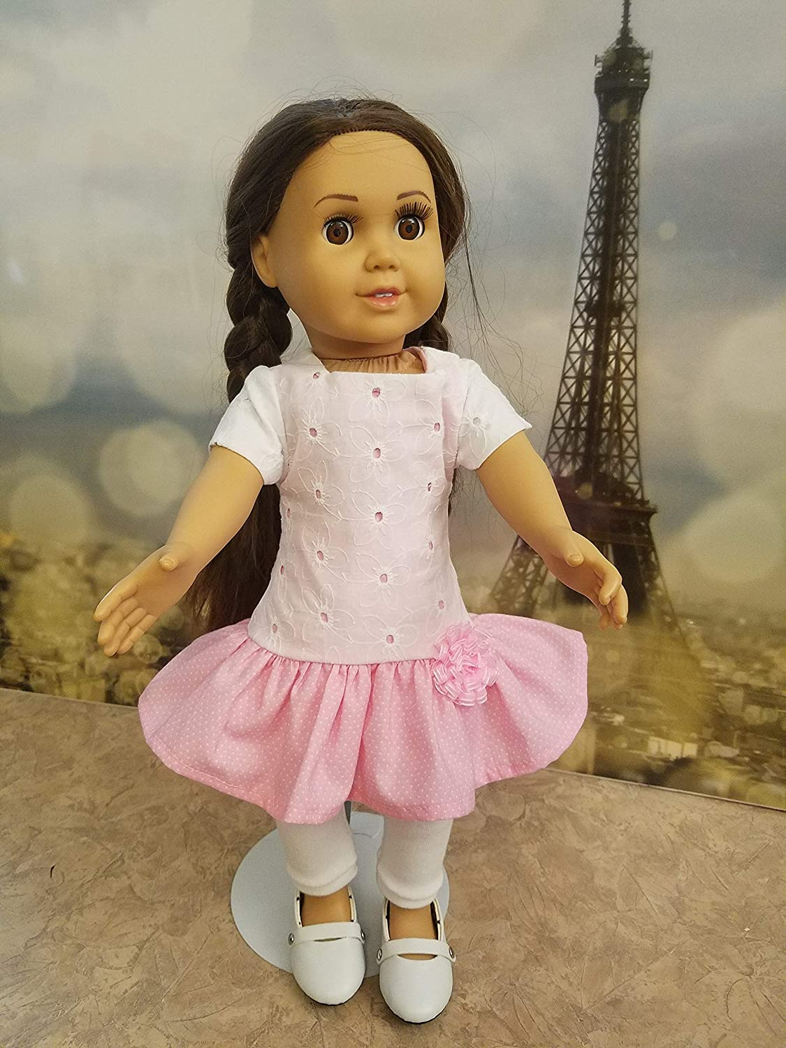pink and white play dress up outfit American girl doll