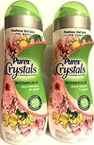 Purex Crystals BotanicalsCherry Blossom and Ginger Laundry Fragrance Booster 18 Ounce (510 Gram) Pack of 2 Bottles