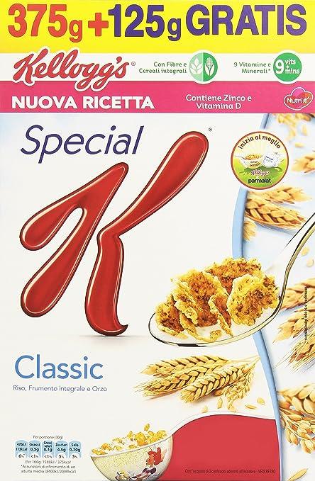 4 opinioni per Kellogg'S Special K Classic Gr.375+125
