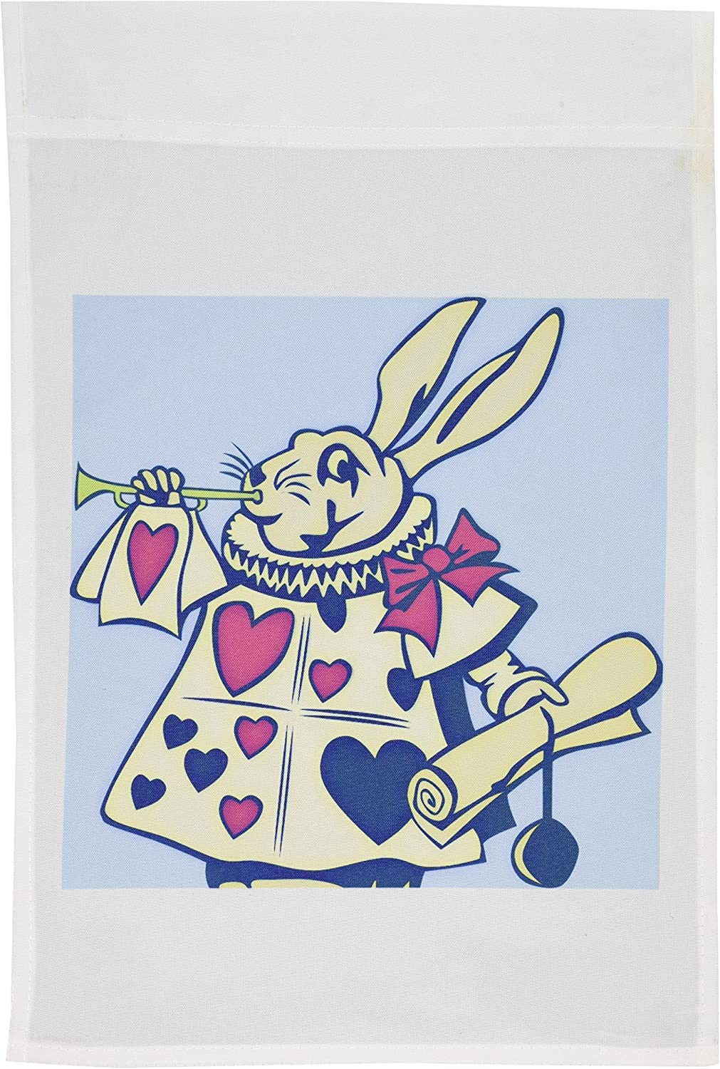 3dRose fl_55724_1 Magical Rabbit Fun and Whimsical Art Alice in Wonderland Garden Flag, 12 by 18-Inch