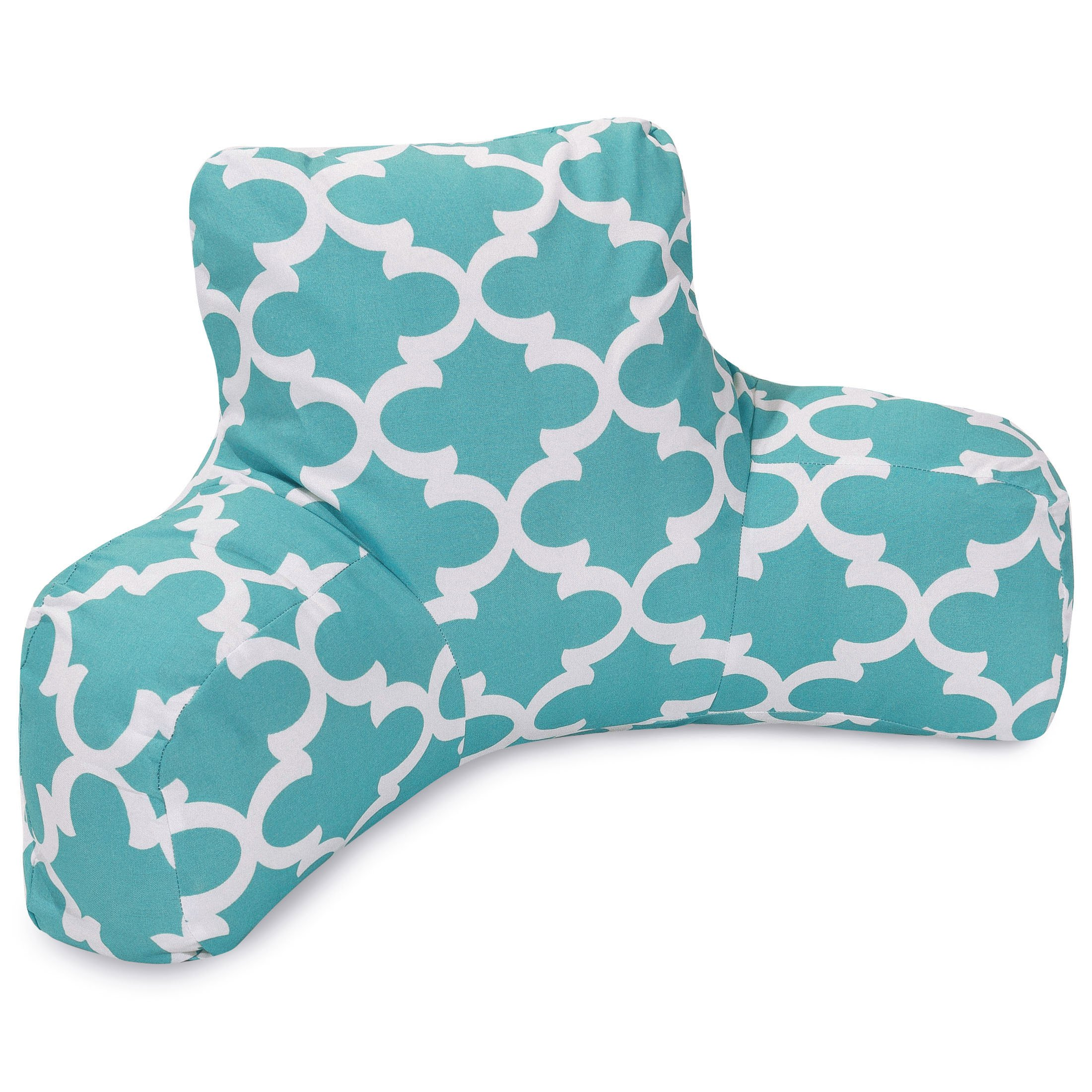 Majestic Home Goods Trellis Reading Pillow, Teal