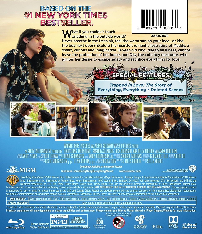 Amazon.com: Everything, Everything (2017) (BD) [Blu-ray]: Amandla ...