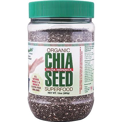 Amazon.com: Sanar Naturals Semillas orgánicas de chia negra ...