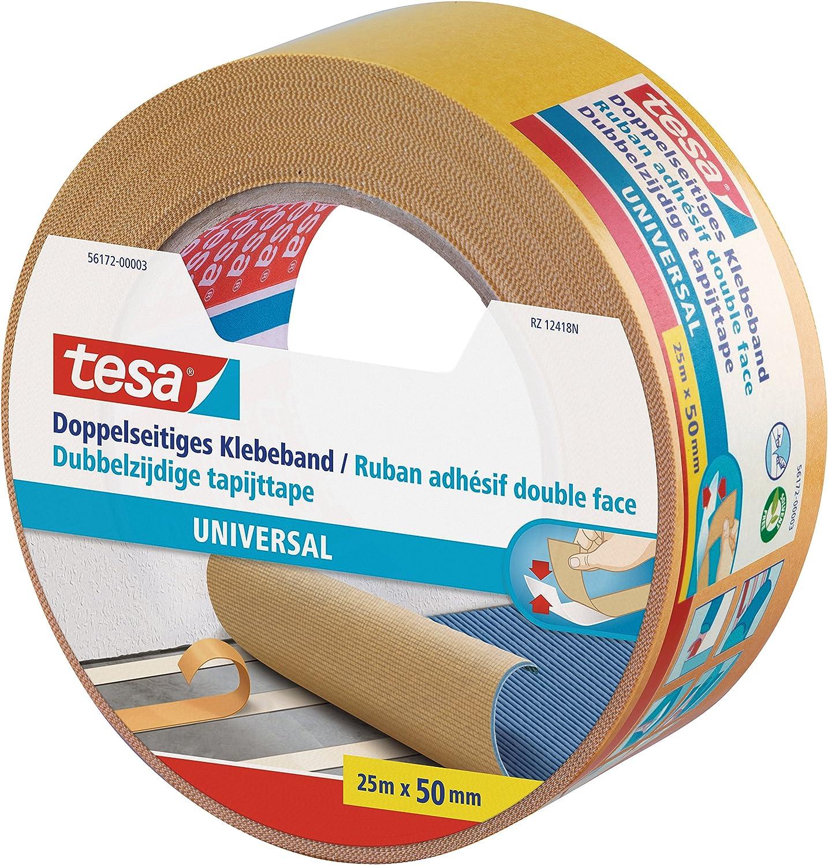 doppelseitig universal Klebeband beidseitig 5cm x 25m Tesa Verlegeband 56172