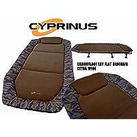 Cyprinus Camouflage Cama de Pesca de Carpa de Gran Ancho, Camuflaje Extra Grande