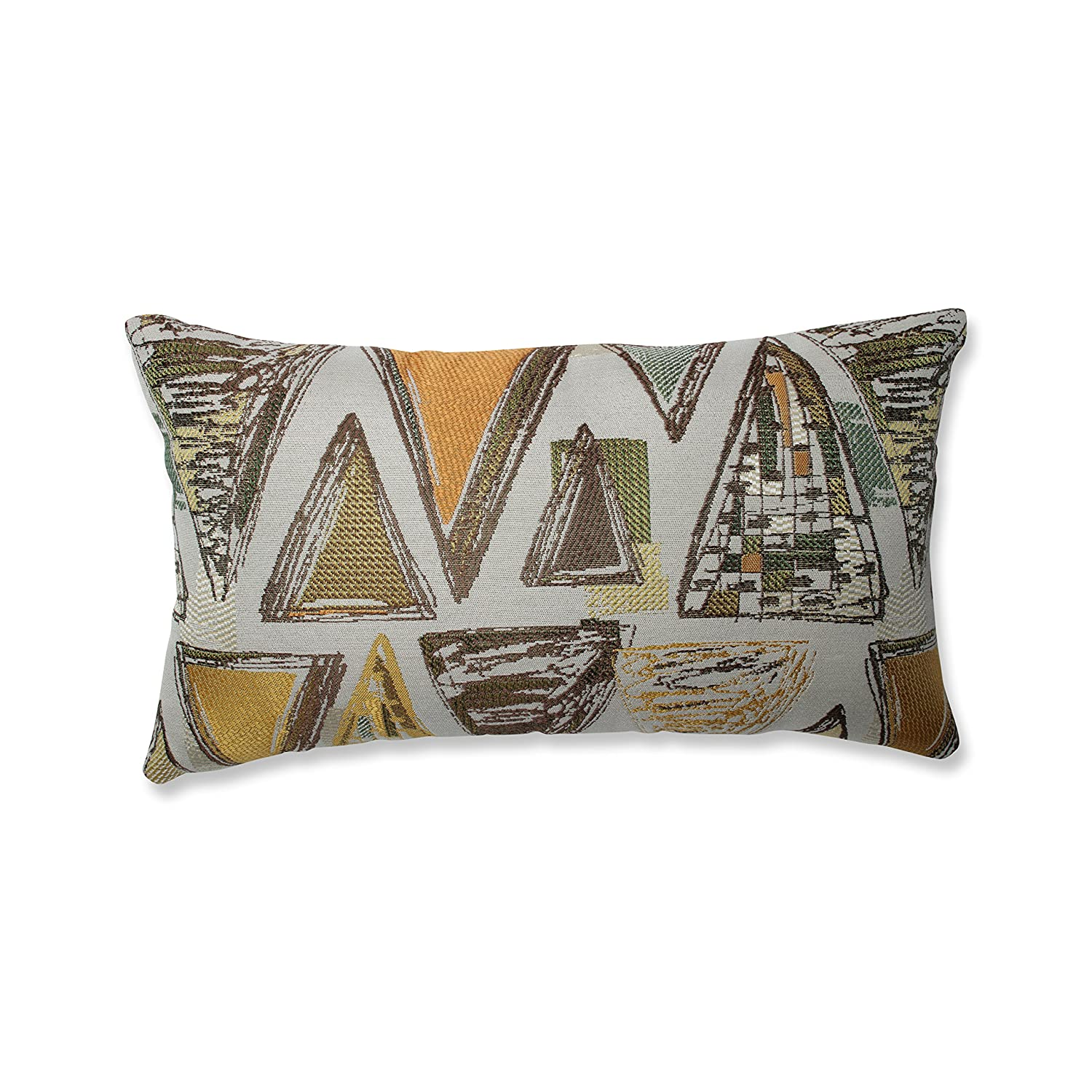 Pillow Perfect Triangle Tapestry Multi Floor Pillow 24.5-inch Green