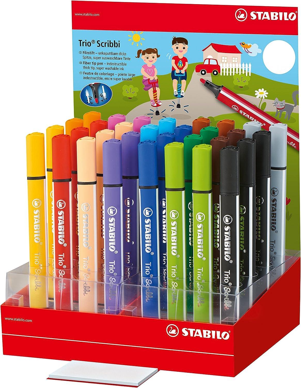 Stabilo 368/32 – 1 TRIO Scribbi – Rotuladores de colores (Pack de ...