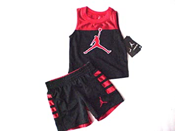 87de95400859 Image Unavailable. Image not available for. Color: Nike Air Jordan Toddler  Tank-Top & Short ...