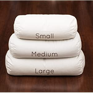 "Comfy Neck Side Sleeper Buckwheat Hull Pillow Made in USA (19"" x 7"", comes with custom white pillowcase)"