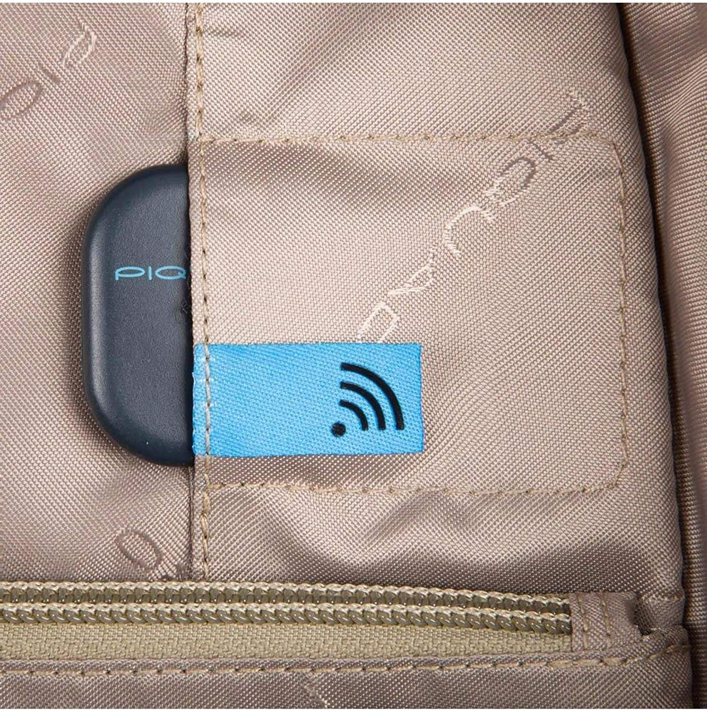 Piquadro Vanguard Zaino Porta Computer Protezione Anti-frode RFID Colore Nero Tasca per CONNEQU