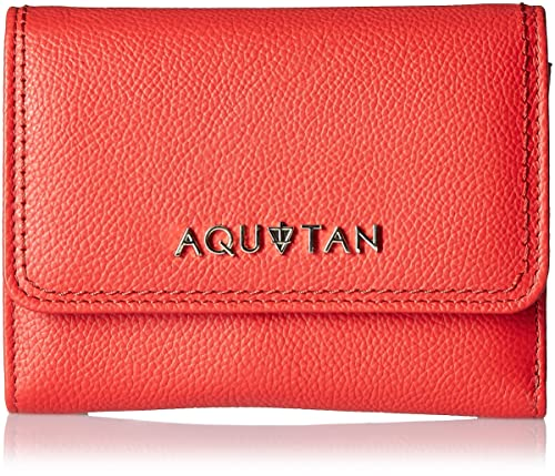 Aquatan Women's The Famous Flap Over Leather Wallet Bright Red AT-W-51